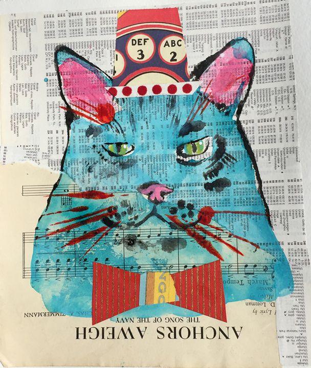American  Kitty Kat - Karen Stanton Gallery