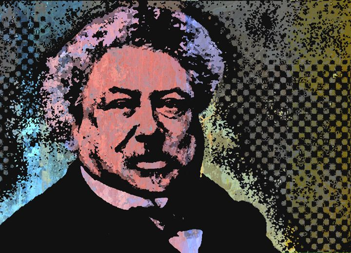 Alexandre Dumas (Père)-3 - IMPACTEES STREETWEAR: ARTWORKS