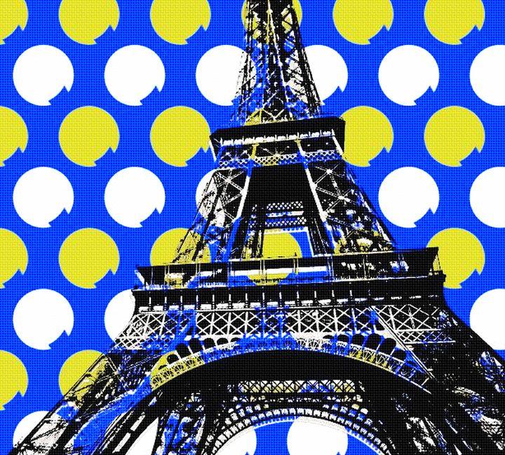 EIFFEL TOWER POPART 7 - IMPACTEES STREETWEAR ARTWORKS