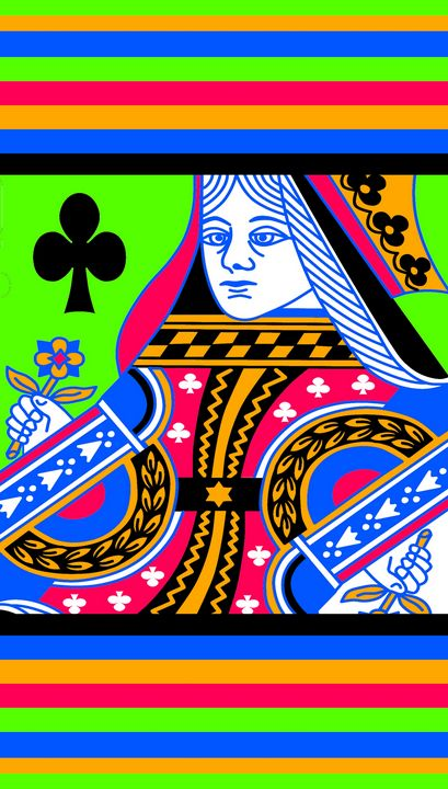 QUEEN OF CLUBS COLOURS 3 - IMPACTEES STREETWEAR ARTWORKS