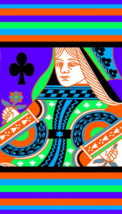 QUEEN OF CLUBS COLOURS 4 - IMPACTEES STREETWEAR ARTWORKS
