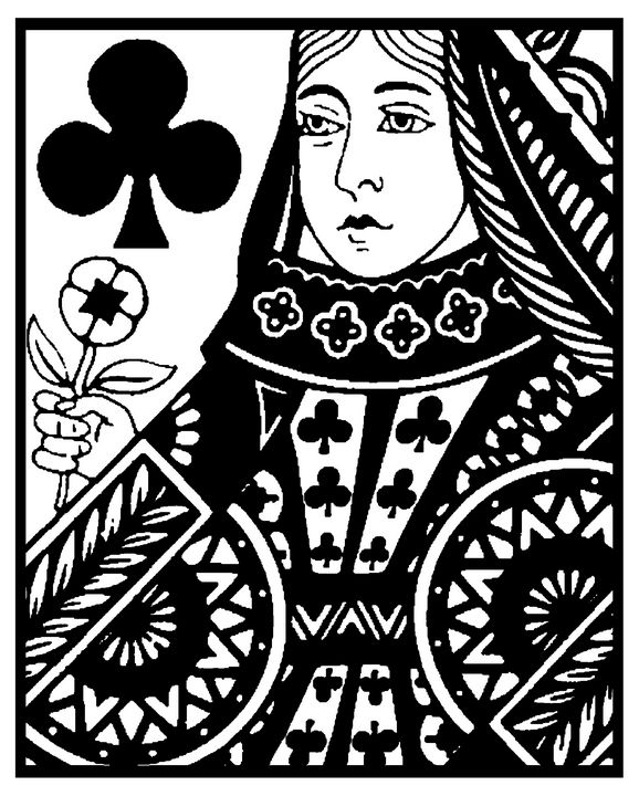 Queen of Clubs-Close - IMPACTEES STREETWEAR ARTWORKS