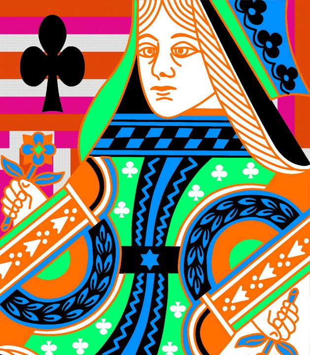 QUEEN OF CLUBS COLOURS - IMPACTEES STREETWEAR ARTWORKS