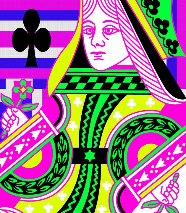 QUEEN OF CLUBS - IMPACTEES STREETWEAR ARTWORKS