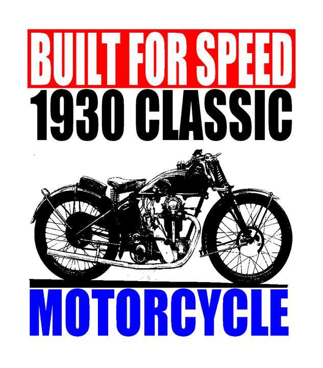 1930 MOTORCYCLE - IMPACTEES STREETWEAR ARTWORKS