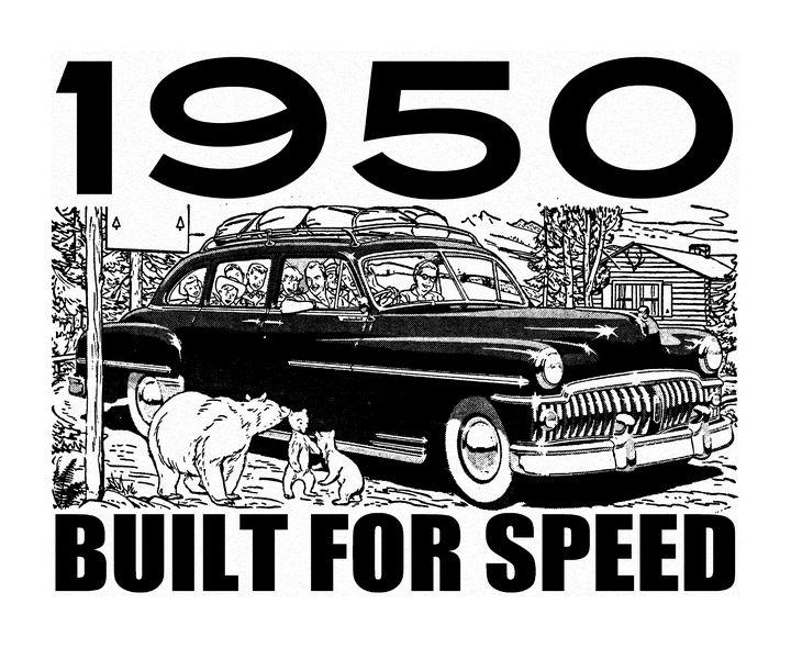 1950 BUILT FOR SPEED - IMPACTEES STREETWEAR ARTWORKS