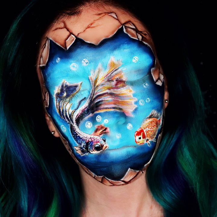 Koi pond - Katie Cole Body Painting