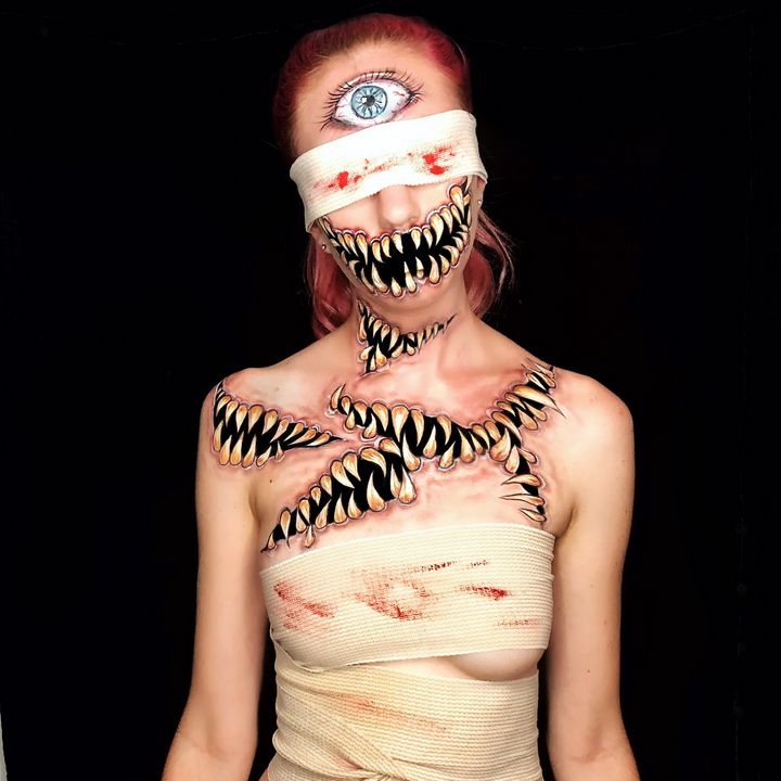 Depression Monster - Katie Cole Body Painting