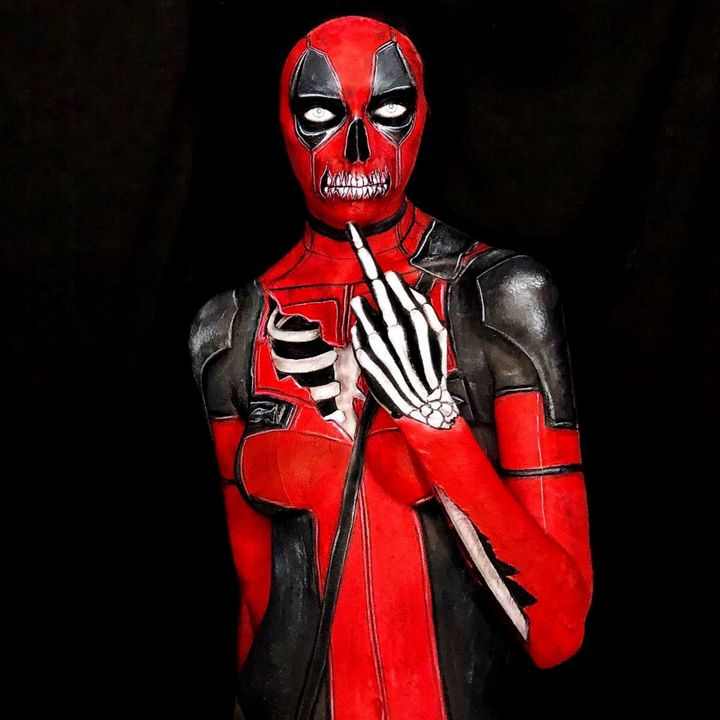Deadpool - Katie Cole Body Painting
