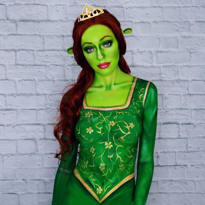 Fiona from Shrek - Katie Cole Body Painting