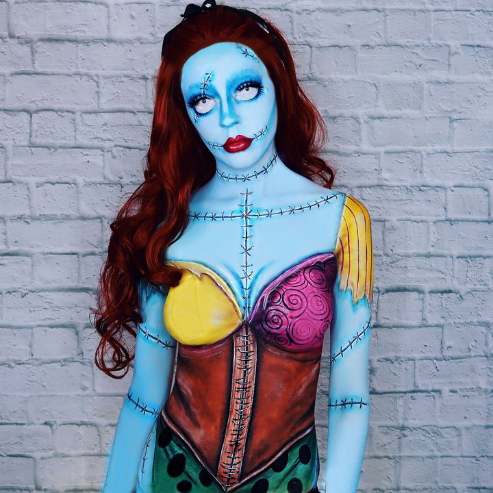 Pin Up Sally - Katie Cole Body Painting