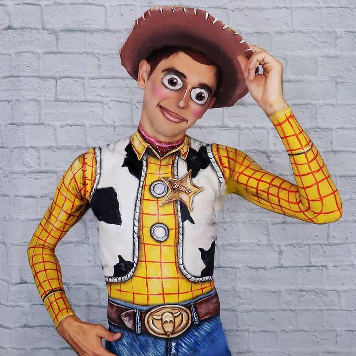 Woody - Katie Cole Body Painting