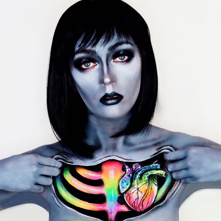 Ripped Open - Katie Cole Body Painting