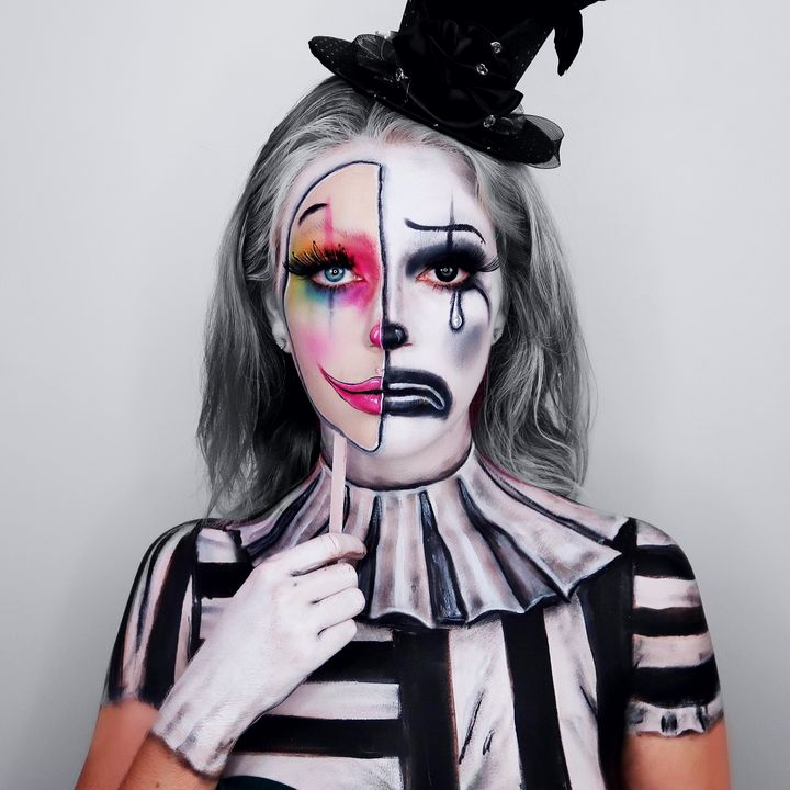 Dance For Me Clown - Katie Cole Body Painting
