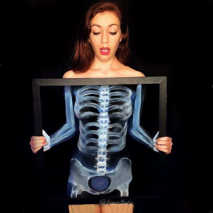 X-Ray - Katie Cole Body Painting