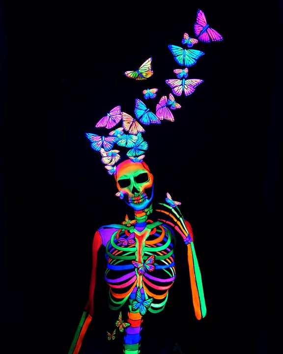 Beautiful Death - Katie Cole Body Painting