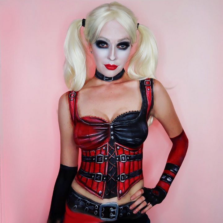 Arkham City Harley Quinn - Katie Cole Body Painting