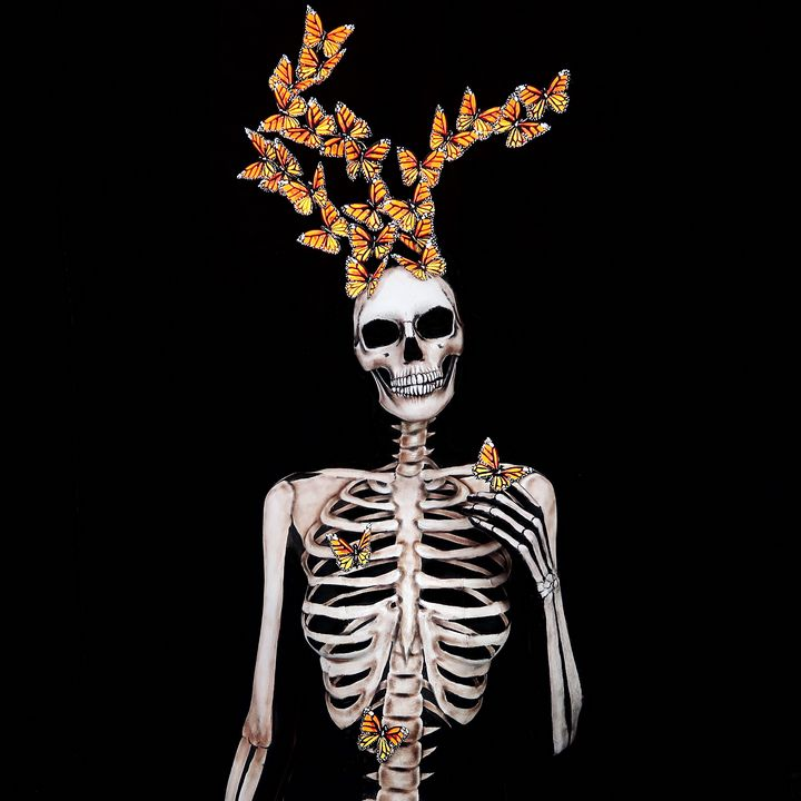Butterfly Skeleton - Katie Cole Body Painting
