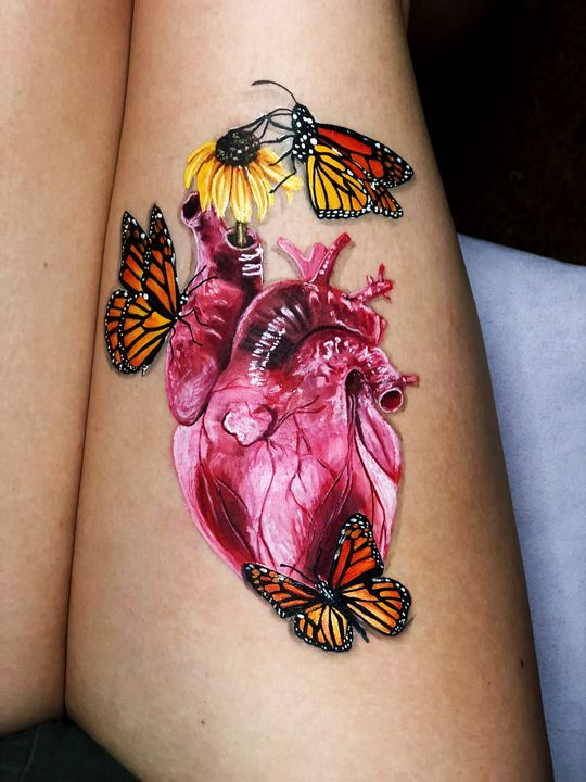 Heart - Katie Cole Body Painting