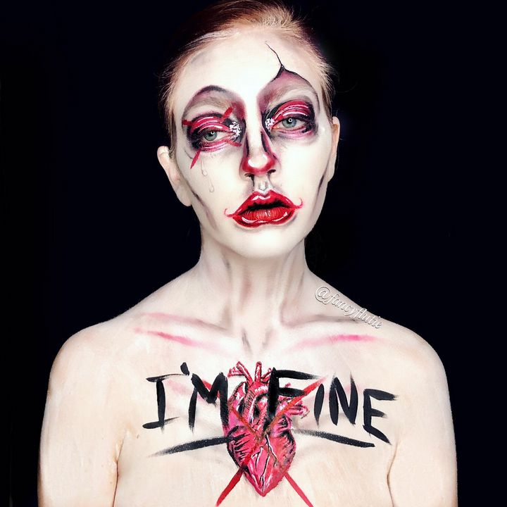 I'm Fine - Katie Cole Body Painting