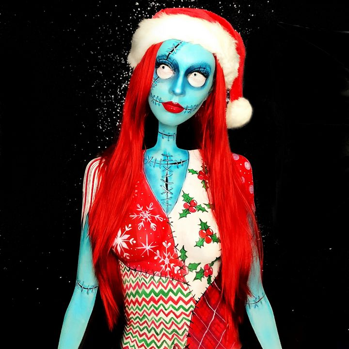 Christmas Sally - Katie Cole Body Painting