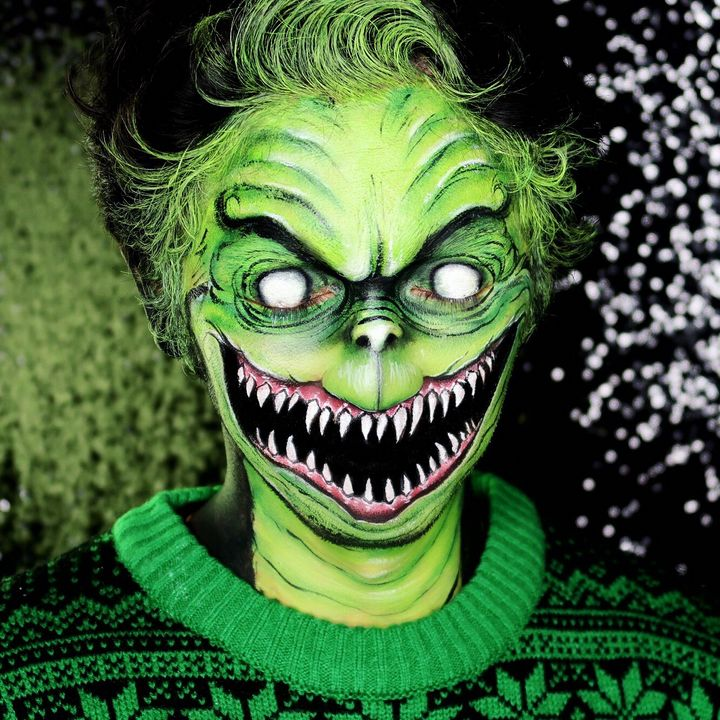 The Grinch - Katie Cole Body Painting
