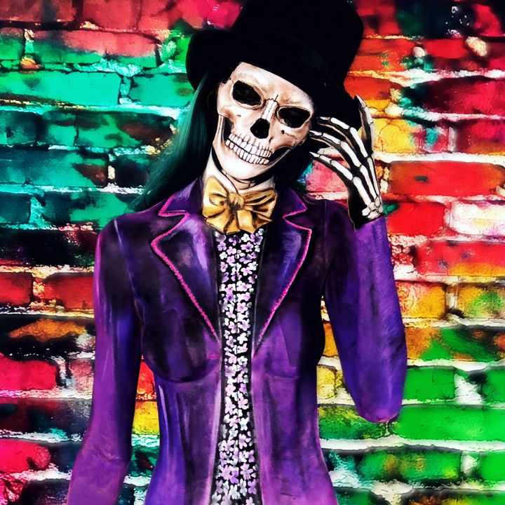 Willy Wonka - Katie Cole Body Painting