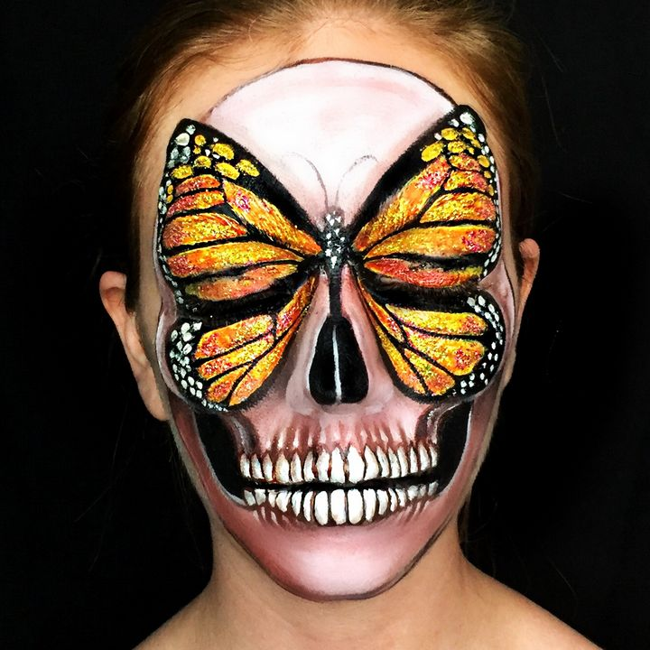 Butterfly Face - Katie Cole Body Painting