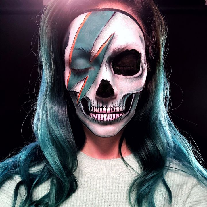 Bowie Skull - Katie Cole Body Painting