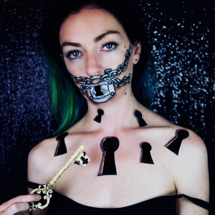 Lock and Key - Katie Cole Body Painting