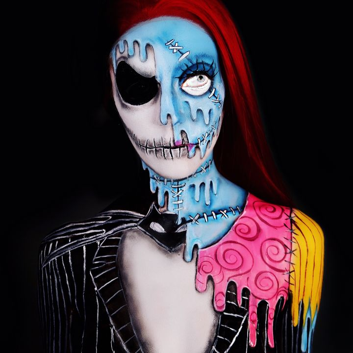 Jack/Sally - Katie Cole Body Painting