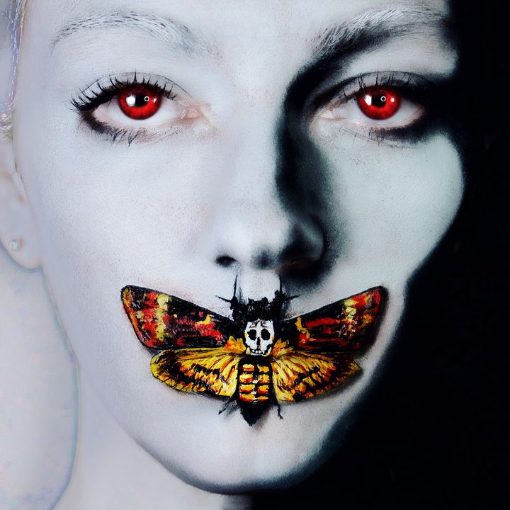 Silence of the Lambs - Katie Cole Body Painting