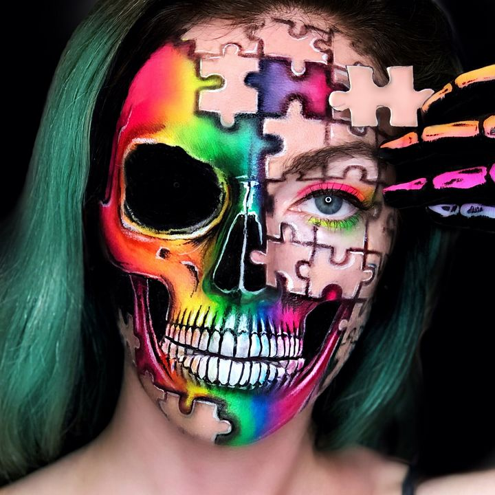 Puzzle Pieces - Katie Cole Body Painting