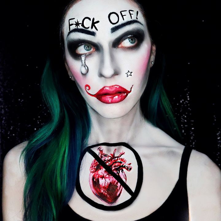 F**k Off - Katie Cole Body Painting