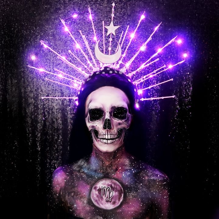 Horoscope Skull - Katie Cole Body Painting