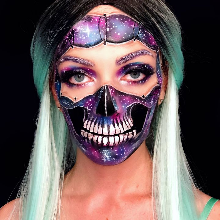 Galaxy Skull 2 - Katie Cole Body Painting