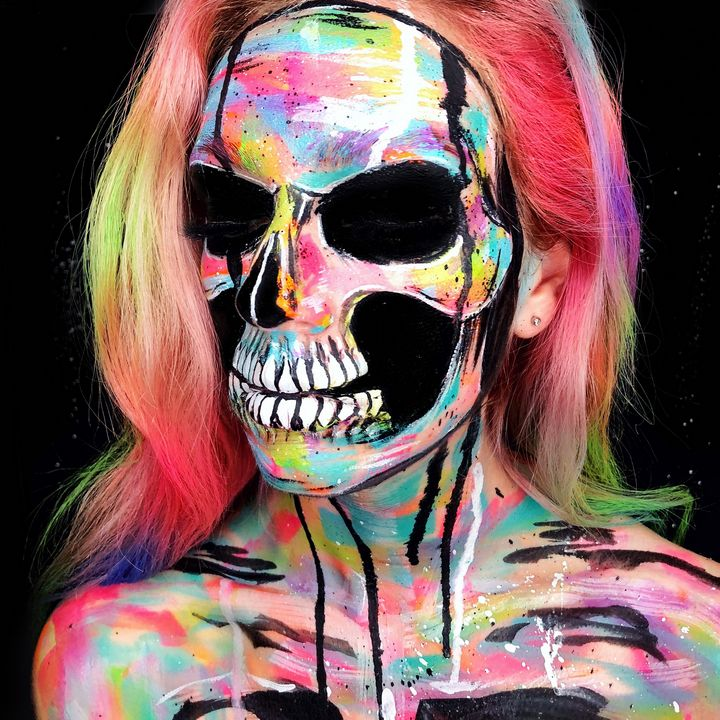 Abstract Skeleton - Katie Cole Body Painting