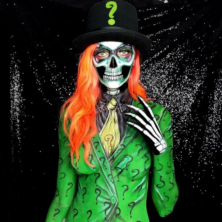 The Riddler - Katie Cole Body Painting