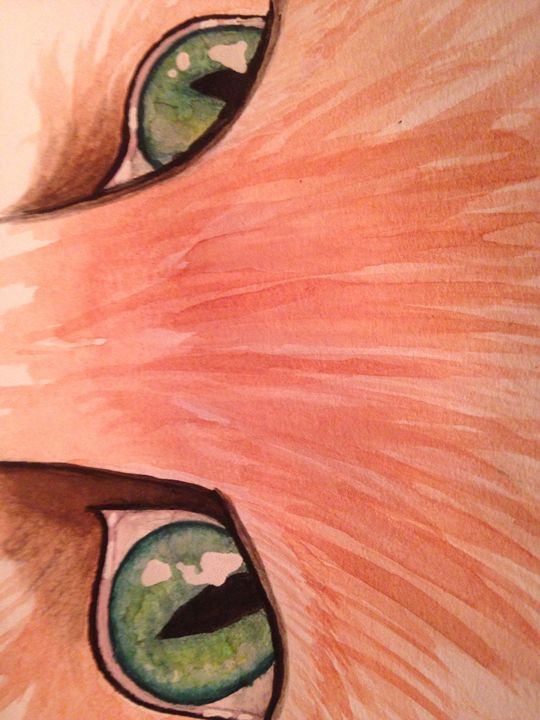 A Catwork Emerald Orange - Art by Nichole