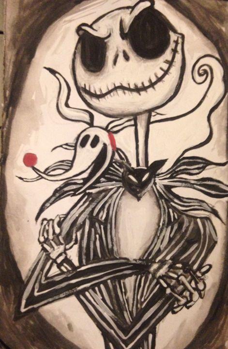 A Skeletons Best Friend  (Zero) - Art by Nichole