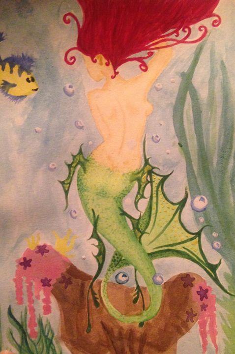 """The Mermaid Princes"" (Insert name) - Art by Nichole"