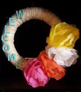 Peony Welcome Wreath