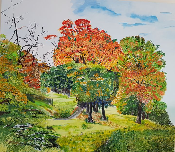 Green Forest ,oil on canvas 145 Cm - lily