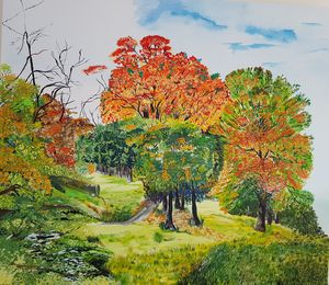 Green Forest ,oil on canvas 145 Cm