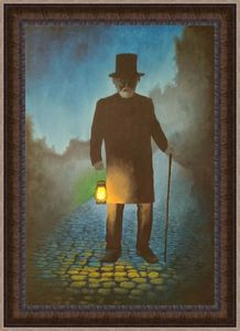 Old man with lantern