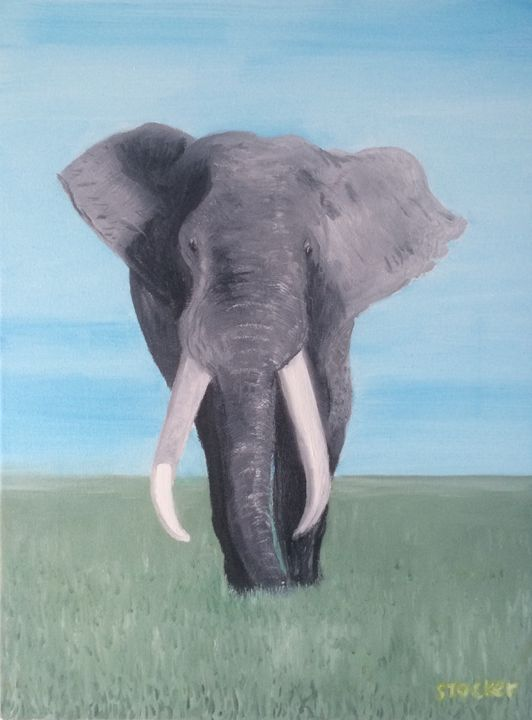 Plains Elephant - Gary Stocker Art