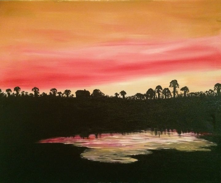 Sunset at Claydon - Gary Stocker Art