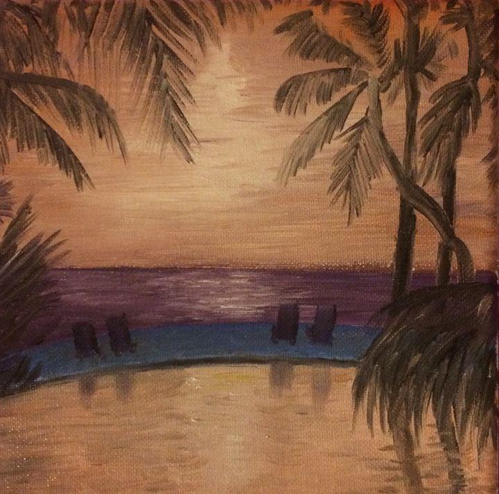 Pool view - Gary Stocker Art