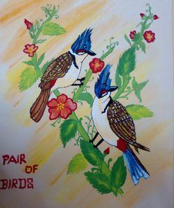 Pair of Birds(Bulbul)(nightingale)