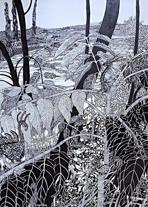 Two birds in a landscape - aRDart